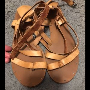 Madewell ankle-wrap sandals